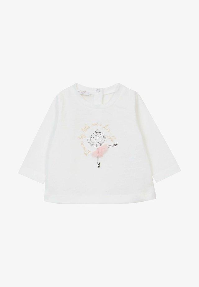 WITH BALLERINA - Maglietta a manica lunga - white