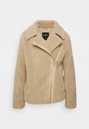 BIKER - Zimní bunda - tan