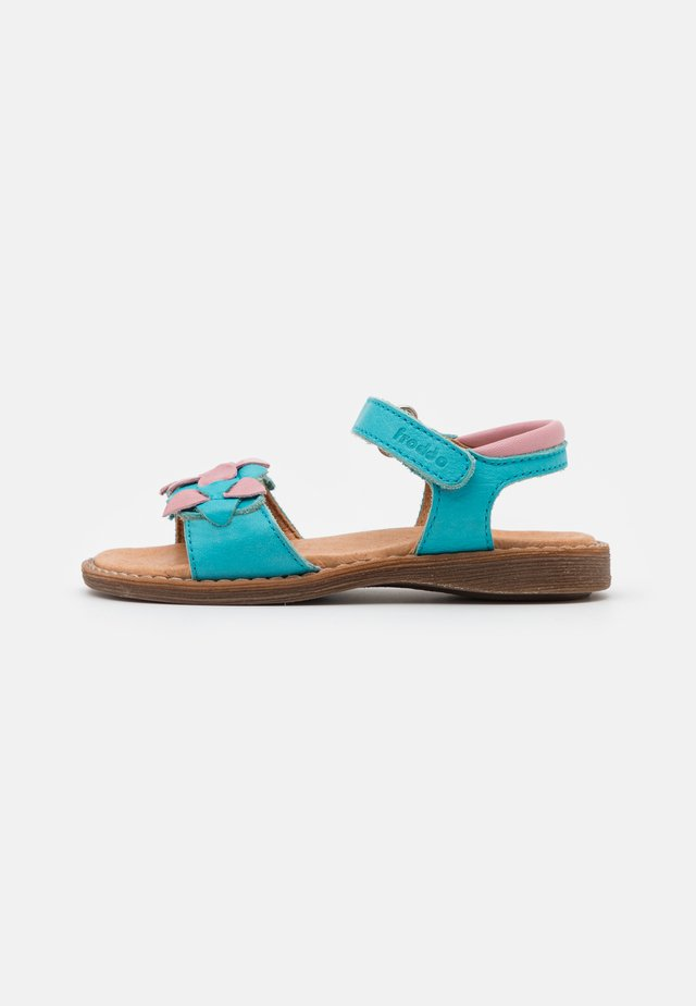 LORE FLOWERS - Sandals - turquoise