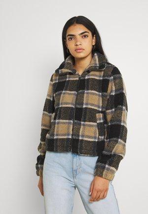 NMNICHELA JACKET - Fleece jacket - mottled grey