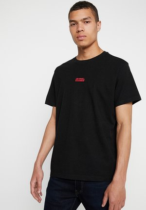 T-shirt basique - black/crimson