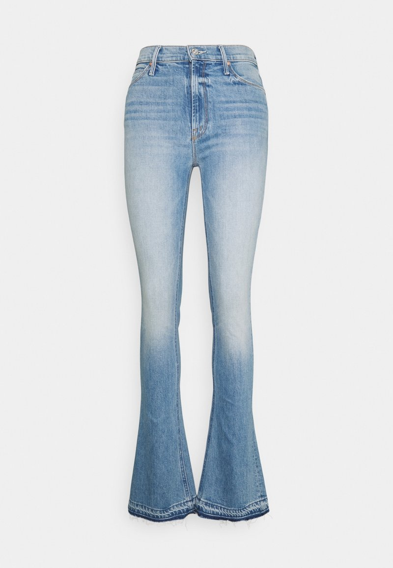 Mother - RUNAWAY UNDONE - Bootcut jeans - light blue