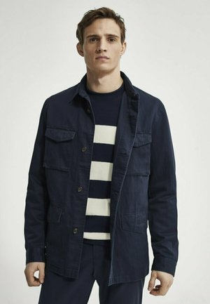 Summer jacket - blue black denim