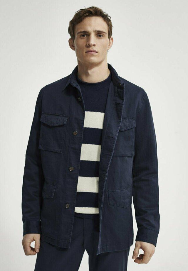 Summer jacket - blue black denim