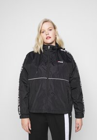 Fila Plus - TATTUM WIND JACKET - Kevyt takki - black/bright white - 3