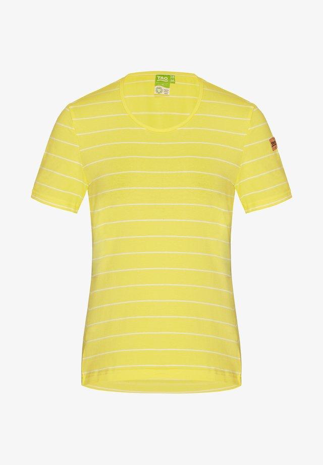 WEAR COULETTO - Print T-shirt - citron/white