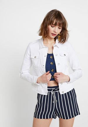 ONLTIA JACKET - Denim jacket - white