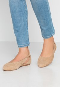 Anna Field Wide Fit - LEATHER BALLERINAS - Bailarinas - beige - 0
