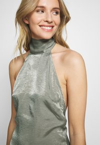 UNIQUE 21 - HALTERNECK OPEN BACK DRESS - Společenské šaty - green - 7