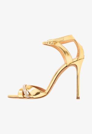 Sandály na vysokém podpatku - mirror gold