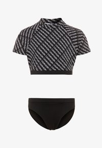 Calvin Klein Swimwear - RASHGUARD LOGO - Surfertrøjer - black - 0