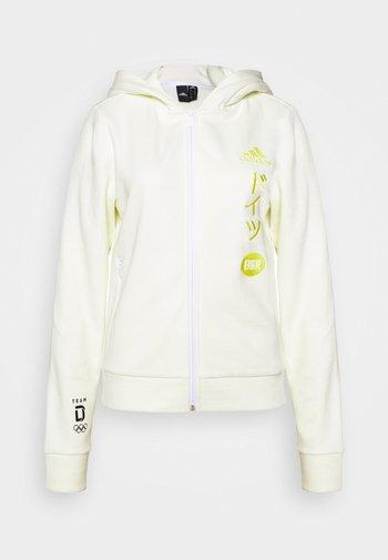 GER HOODY  - National team wear - white/froyel