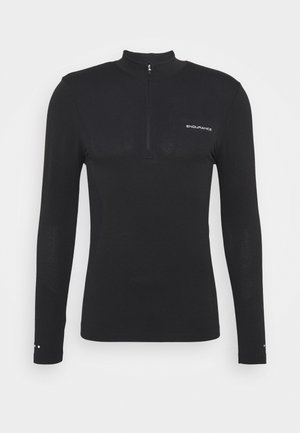 JARO SEAMLESS MIDLAYER - Long sleeved top - dark grey melange