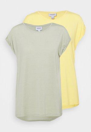 VMAVA PLAIN 2 PACK - Basic T-shirt - desert sage/cornsilk