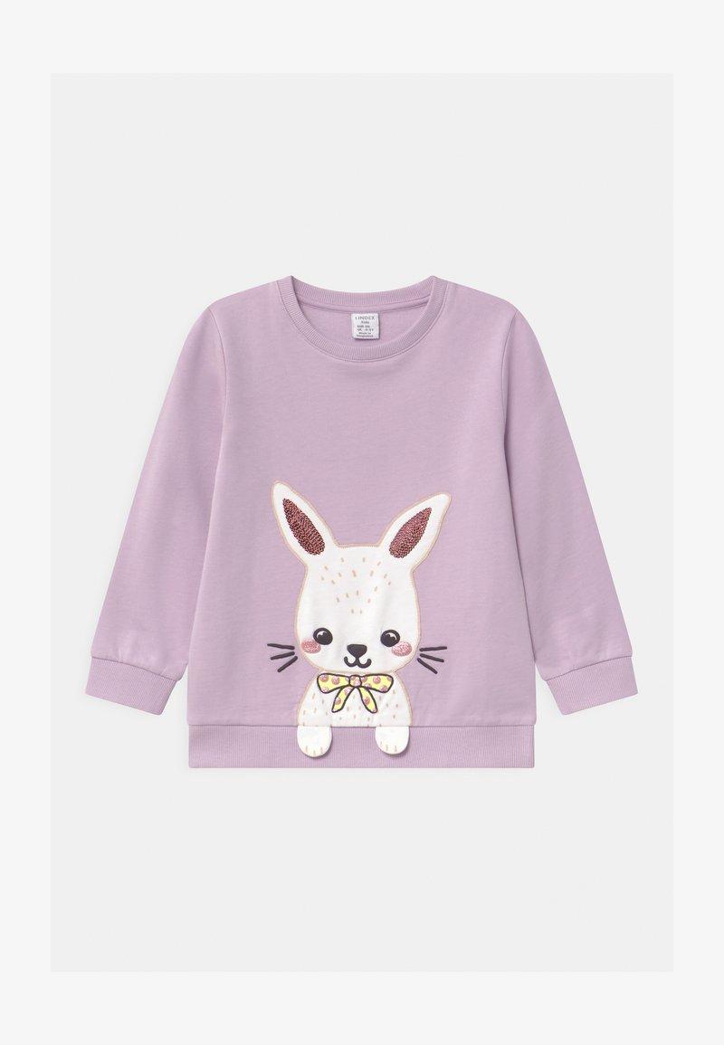 Lindex - MINI RABBIT PATCH - Sweatshirt - light lilac