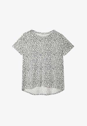 ASYMMETRISCHES  - T-shirt z nadrukiem - white