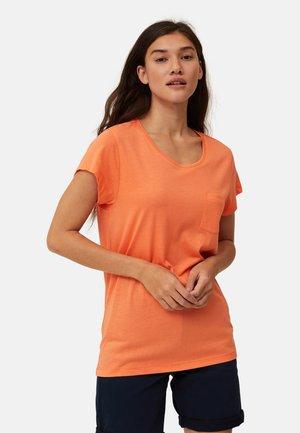 T-shirt med print - light orange