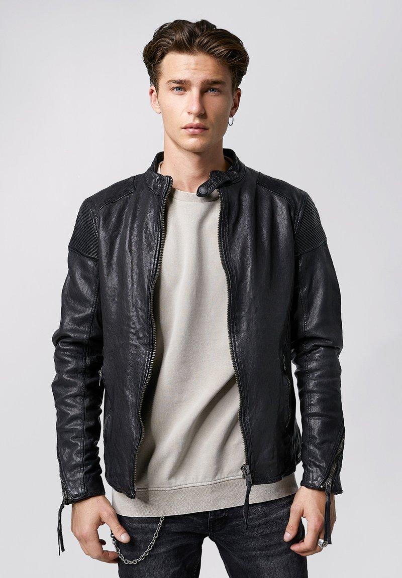 Tigha - FRANKLYN - Leather jacket - black