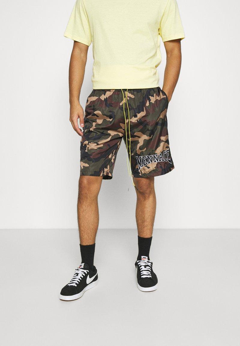 Mennace - CAMO PULL ON - Shorts - khaki