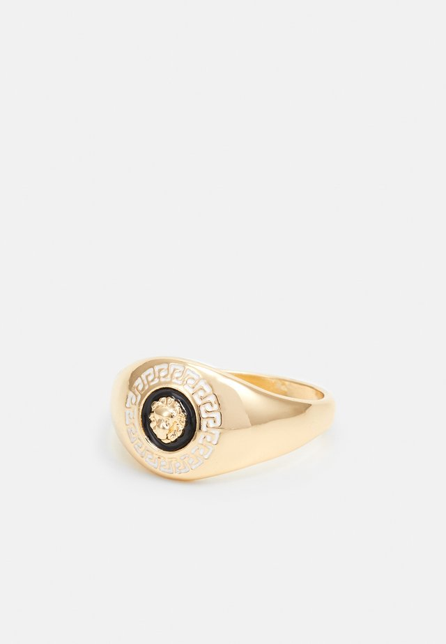 LION HEAD SIGNET RING - Ring - gold