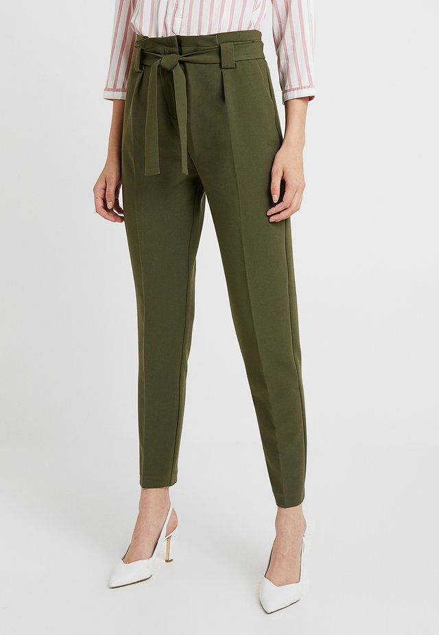 Trousers - olive night