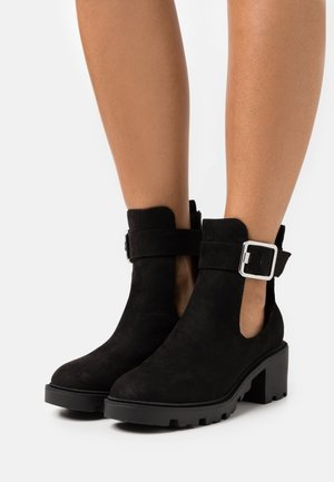 BEA CUTOUT UNIT BOOT - Bottines - black