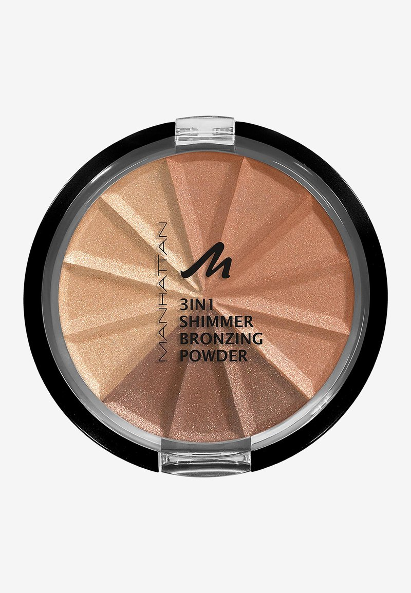 Manhattan Cosmetics - 3IN1 SHIMMER BRONZING POWDER - Powder - 001 gold shimmer