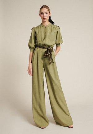 Kalhoty - verde militare/var verde