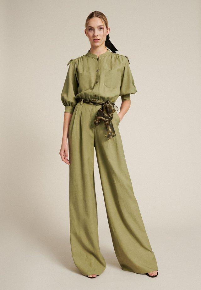Pantalon classique - verde militare/var verde