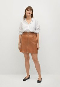 Violeta by Mango - A-line skirt - mittelbraun - 1