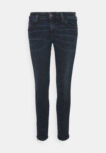 SLANDY-LOW-ZIP - Jeans Skinny Fit - denim blue