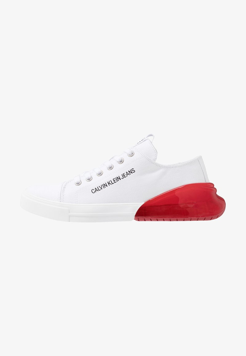 Calvin Klein Jeans - MUNRO - Trainers - white/red