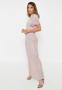 BEAUUT - GRACY EMBELLISHED SEQUINS  - Cocktailklänning - frosted pink - 2