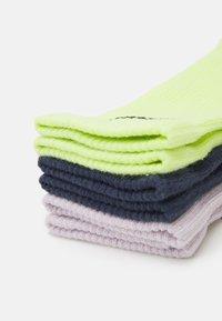 Nike Performance - EVERYDAY PLUS CREW 3 PACK UNISEX - Sportovní ponožky - lemon twist/thunder blue/venice/black - 1