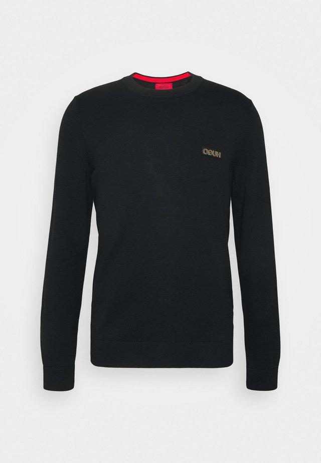 SAN CASSIUS - Pullover - black/gold