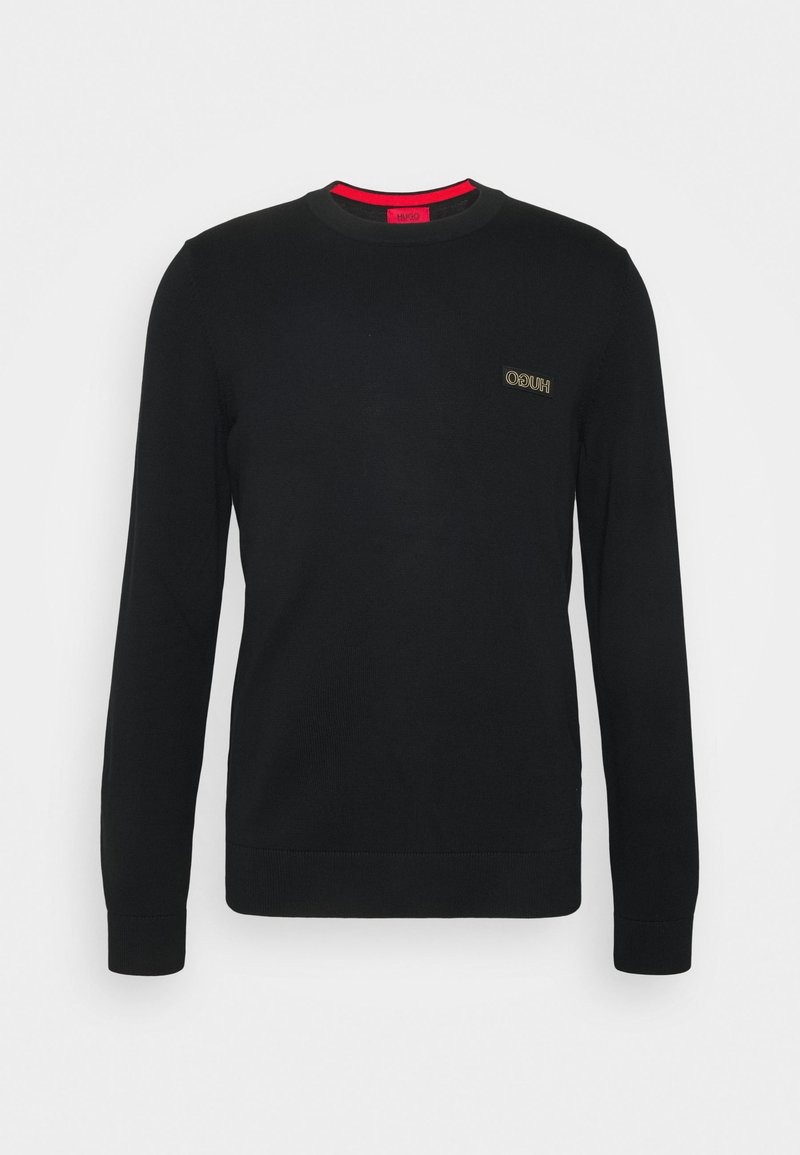 HUGO -  SAN CASSIUS - Strickpullover - black/gold