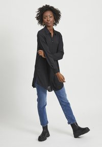 Vila - VILUCY NOOS - Button-down blouse - black - 1