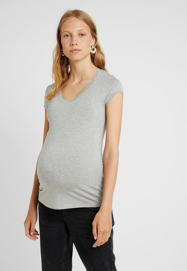 TEE - Basic T-shirt - grey melange