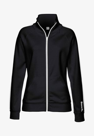 Fleece jacket - schwarz-weiß