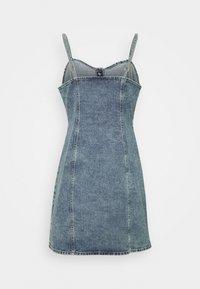 Gina Tricot - STRAP DRESS - Denimové šaty - blue - 1