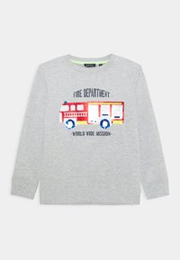 Blue Seven - KIDS FLIP FIRE ENGINE - Sweater - nebel - 0