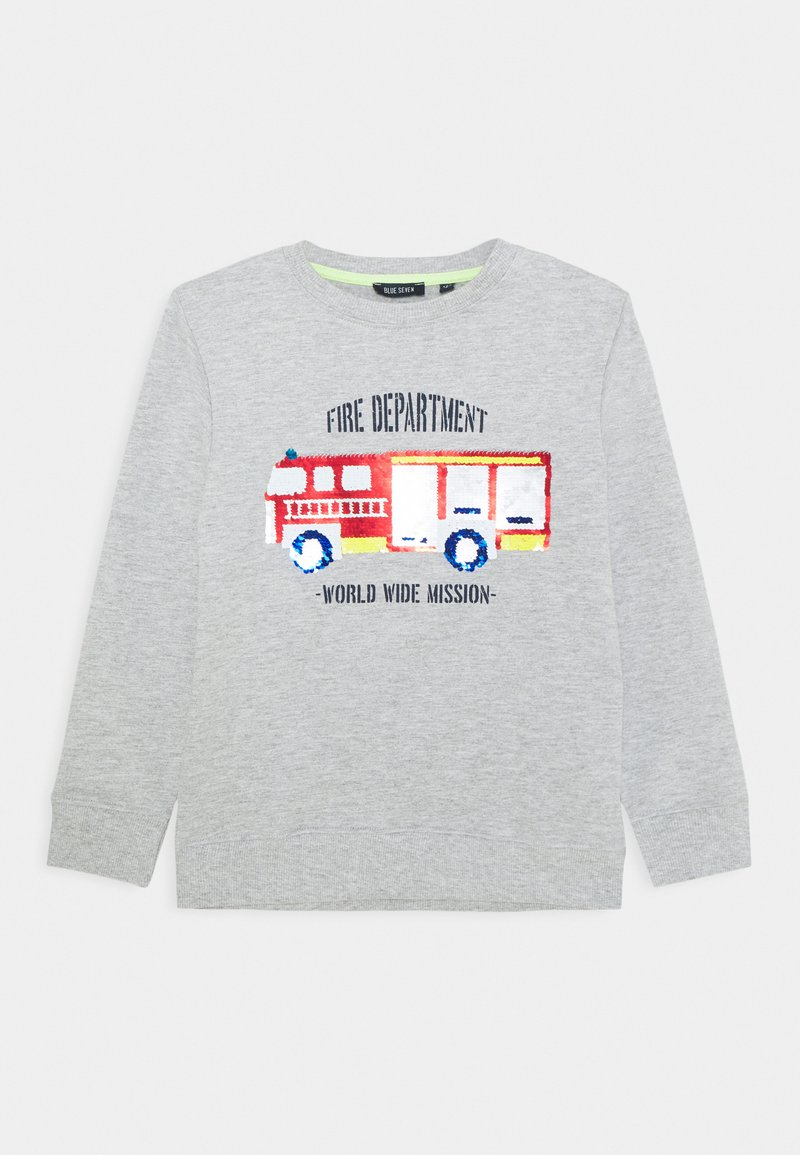 Blue Seven - KIDS FLIP FIRE ENGINE - Sweater - nebel