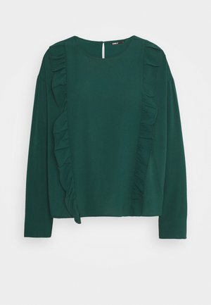 ONLNINNA RUFFLE - Long sleeved top - ponderosa pine