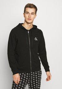 Calvin Klein Underwear - CK ONE FULL ZIP HOODIE  - Pyjama top - black - 1