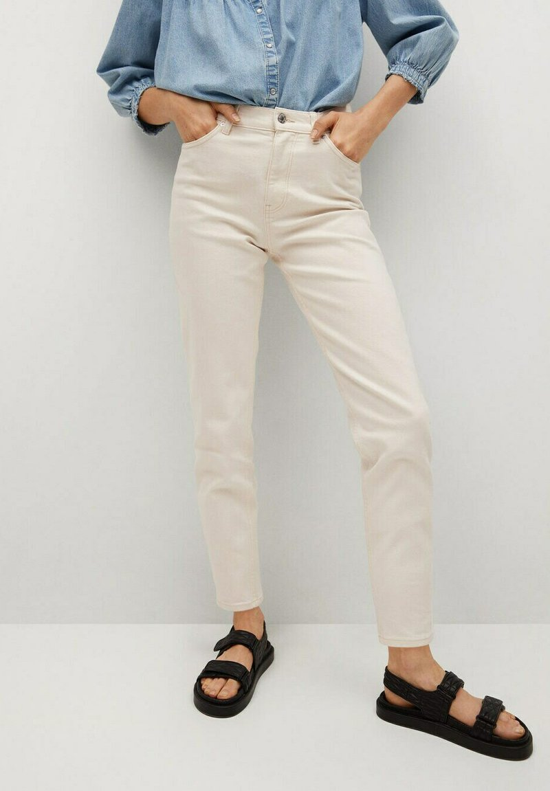 Mango - Jeans Tapered Fit - off white