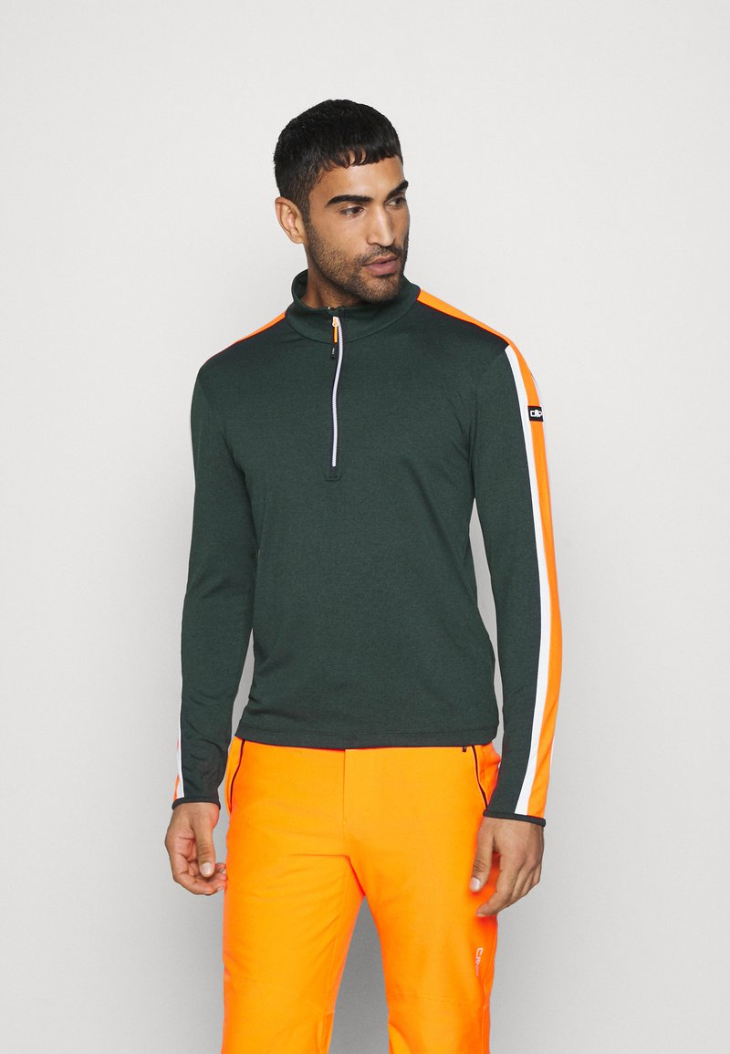 CMP - MAN - Sweatshirt - nero melange/orange fluo