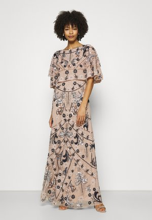 ALL OVER EMBELLISHED CAPE DRESS - Occasion wear - multi