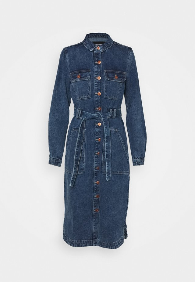 PCGAMIR COAT  - Kurtka jeansowa - medium blue