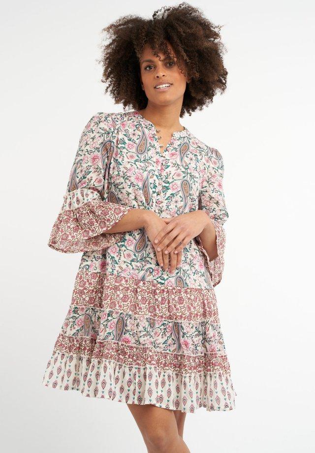 MET PATCHWORK - Korte jurk - multi neutral