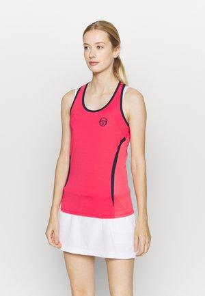 EVA TANK - Sports shirt - rougered/navy